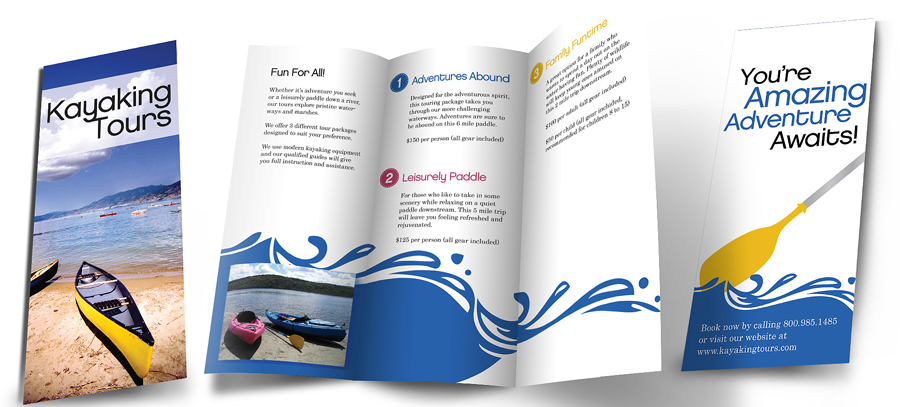 bi fold brochure designed and printed by qasar sharjah
